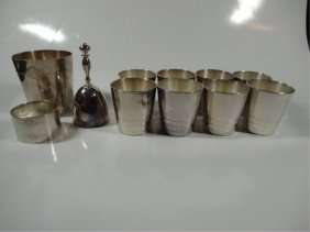 11 Pc Assorted Christofle France Silverplate, Includes