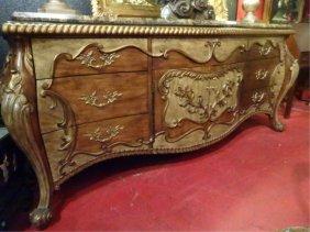 Ferguson Copleand Rococo Sideboard, Beveled Marble Top,