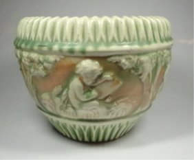 """Roseville Pottery Bowl, Some Cracking, Approx 6.5"""" X"""