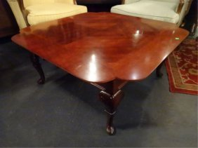 Vintage Square Coffee Table, Scalloped Edge, Excellent