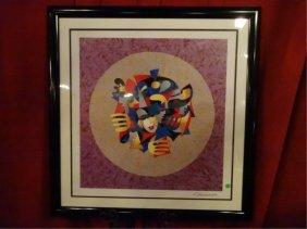 Anatole Krasnyansky Seriolithograph, Musical Sphere,