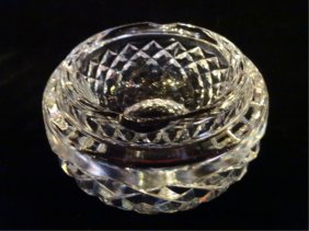 "Waterford Crystal ""alana"" Ashtray, Etched Waterford"