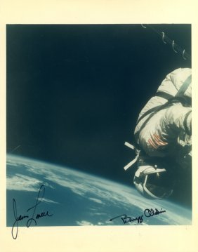 Gemini Xii: Signed Colour 8.5 X 11 Photograph By Both