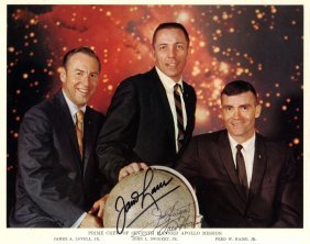 Apollo Xiii: A Good Signed Colour 10 X 8 Photograph By