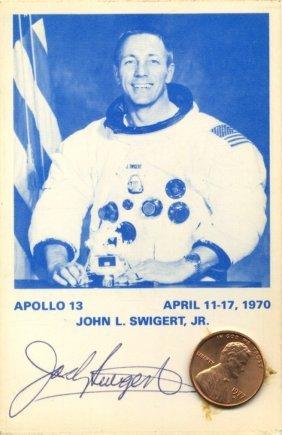 Swigert Jack: (1931-1982) American Astronaut, Command