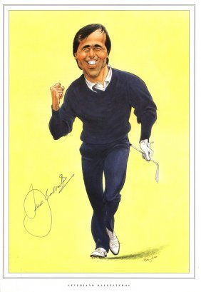 Golf: Selection Of Colour Printed Caricatures (most 8 X
