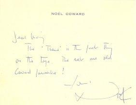 Coward Noel: (1899-1973) English Actor & Playwright,