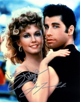 Grease: Signed Colour 8 X 10 Photograph By Both John
