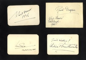 Entertainment: Selection Of 29 Vintage Signed Pieces