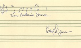 Sigman Carl: (1909-2000) American Songwriter,