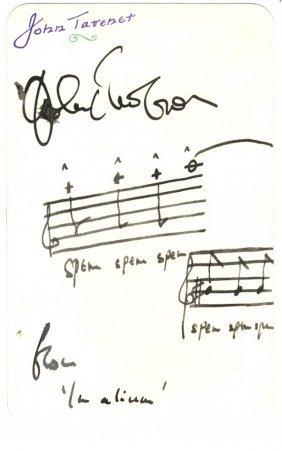 Tavener John: (1944-2013) British Composer. A.m.q.s.,
