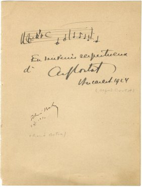 Cortot Alfred: (1877-1962) Swiss-french Pianist &