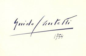 Cantelli Guido: (1920-1956) Italian Conductor. A Rare,