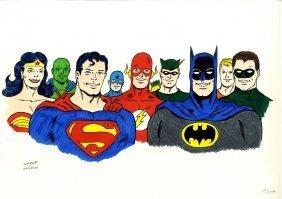 Batman Vs. Superman: An Excellent Original Colour 18 X