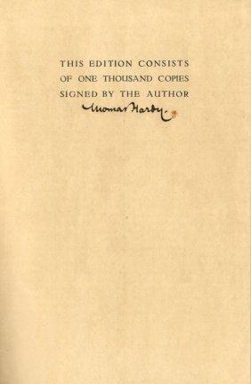 Hardy Thomas: (1840-1928) English Novelist. A Hardback