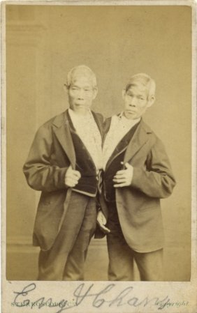 Bunker Chang & Eng: (1811-1874) Siamese Conjoined Twin