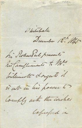 Peel Robert: (1788-1850) British Prime Minister 1834-35
