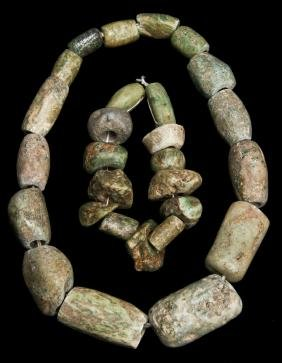 Pre Columbian Olmec Jade Bead Strands