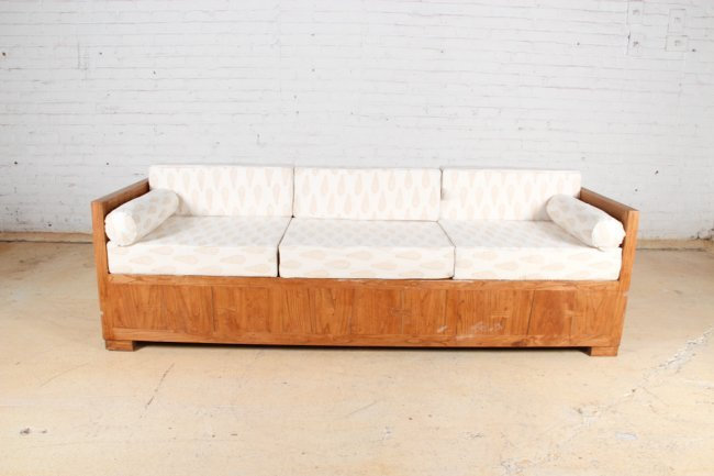 Modern Artisan Crafted Sofa Lot 72
