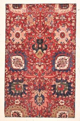 Large Tebriz Style Carpet Fragment