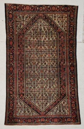 "Antique Sarouk Ferahan Rug: 4' X 6'7"" (122 X 201 Cm)"