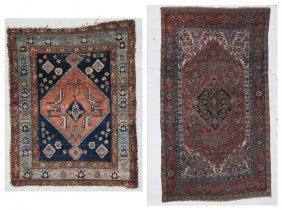 2 Antique Bidjar And Hamadan Rugs