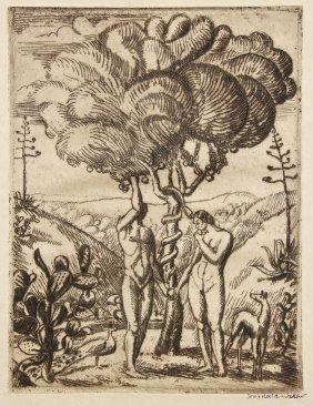 Joseph Hecht (british/polish, 1891-1951) Adam & Eve Au