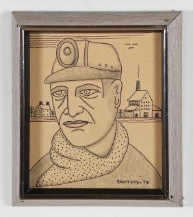 "Jack Savitsky (american, 1910-1991) ""coal Miner Jack"","