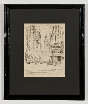 "Salvatore Pinto (american, 1905-1966) ""city Hall Tower"