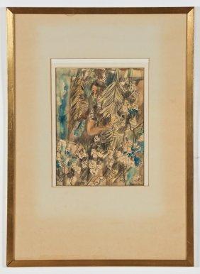 "William Barnett (american, 1918-1992) ""mexican Sketch"""