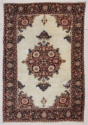 "Antique Ferahan Sarouk Rug: 4'9"" X 6'8"" (145 X 203 Cm)"