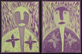 2 Mose Tolliver (1925-2006) Paintings
