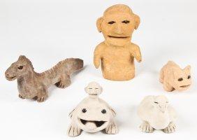 Burgess Dulaney (1914-2001) Five Clay Sculptures