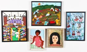 5 Paintings By Various Artists