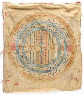Old Jain Cosmos Painting On Cloth