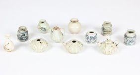 11 Small Chinese Pots, Various Ages