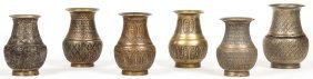 6 Rare Ornate Bronze Ceremonial Batuka Water Containers