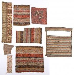 Antique Persian/kashmir/termeh Textile Fragments