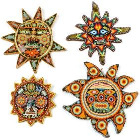 4 Huichol Beadwork Artifacts