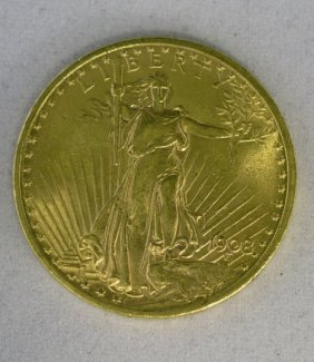 1908 U.S. $20.00 St. Gaudens Gold Double Eagle Coin