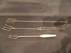 Group Of Three Vintage Toasting Forks