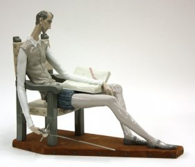 "A Fine Lladro Sculpture Of ""Don Quixote"""