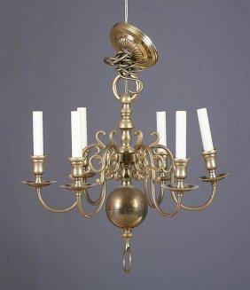 20th Century Dutch Brass Chandelier