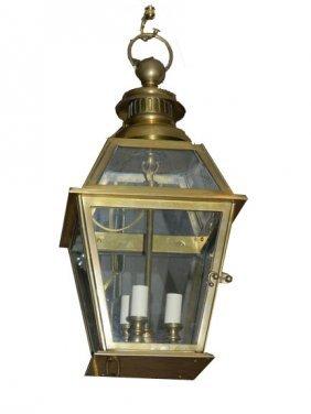 Solid Brass Three Light Lantern