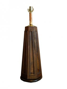 Mid Century Mahogany Arts & Craft Newel Post Adapt
