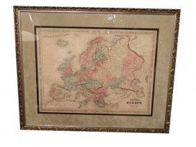 Johnson�s EUROPE, Antique Map Circa 1865