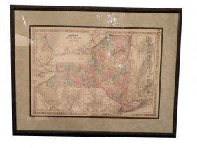 Johnson�s NEW YORK Map, Circa 1865