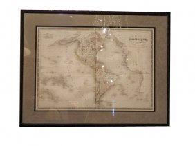 1830 Antique Map, �Carte D�Amerique� By Pierre Tar