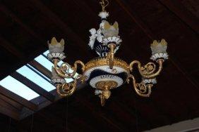 Beautiful Six Light Porcelain Chandelier