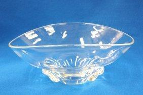 Signed Steuben Center Crystal Bowl